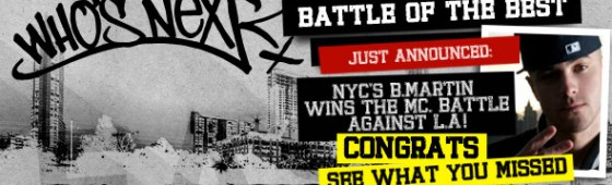 """B. Martin Wins Hot 97′s """"Who's Next"""" Competition & """"Battle Of The Best"""" At SXSW"""